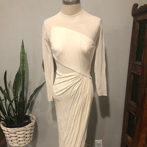 VNTG ✨Tadashi Body Con Ivory Dress Sm